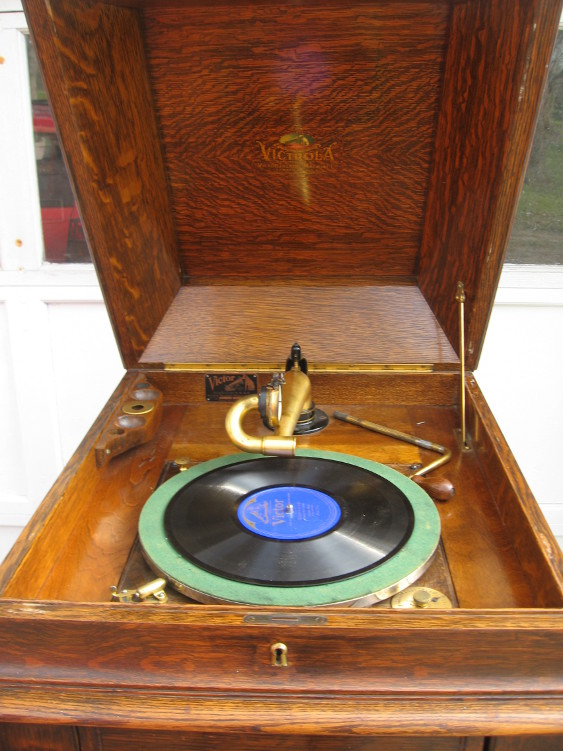 Victrola Xvi L Door Golden Oak For Sale