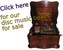 Our disc music boxes for sale