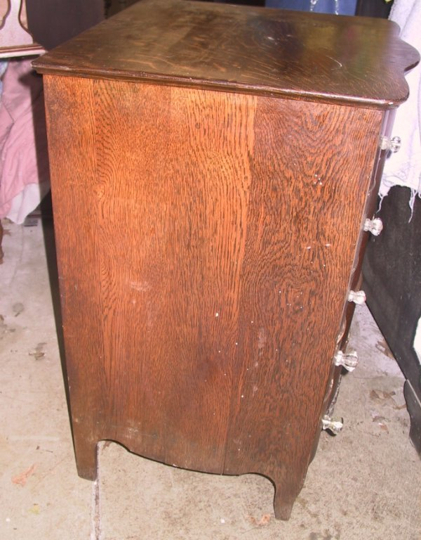Serpentine Cylinder Record Cabinet For Sale