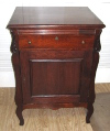 an image of Mahogany base cabinet for Regina or other music box