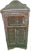 an image of Retola art case wicker Victrola
