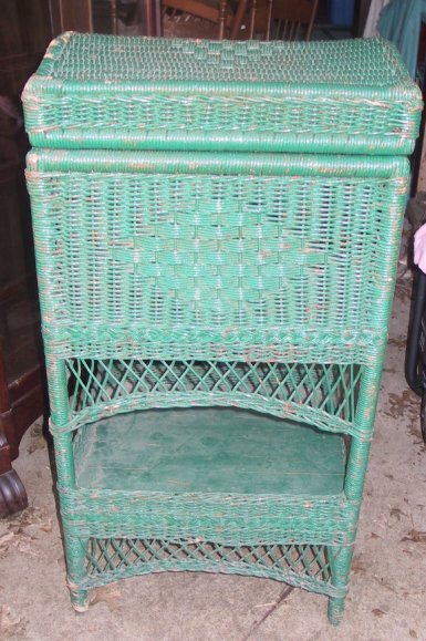 Wicker Victrola Custom Cabinet For Sale
